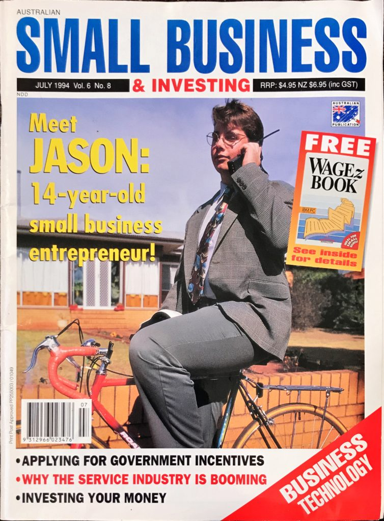 Jason S Bradshaw at 14 interviewed on the keys to his business